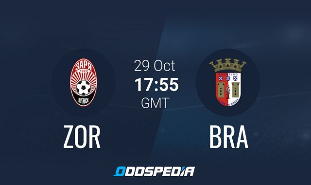 Soi kèo bóng đá trận FK Zorya Luhansk vs Braga, 0h55 – 30/10/2020
