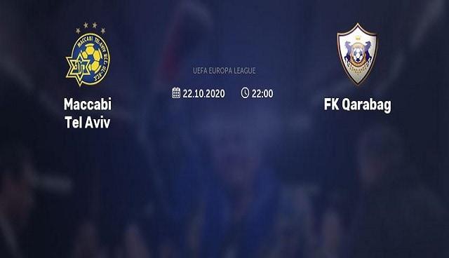 Soi kèo bóng đá trận Maccabi Tel Aviv vs Qarabag, 2h00 – 23/10/2020
