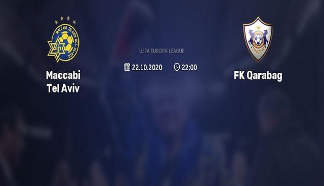 Soi kèo bóng đá trận Maccabi Tel Aviv vs Qarabag, 2:00 – 23/10/2020