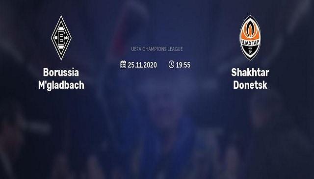Soi kèo bóng đá trận Borussia M'gladbach vs Shakhtar Donetsk, 0:55 – 26/11/2020