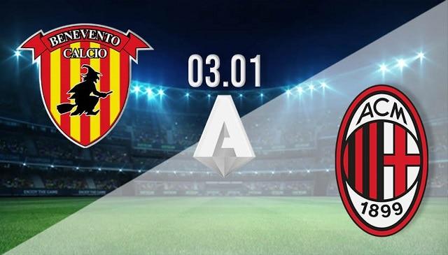 Soi kèo bóng đá trận Benevento vs AC Milan, 0:00 – 04/01/2021