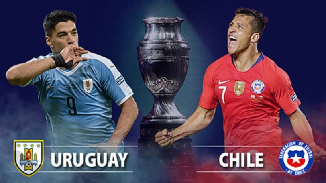 Soi kèo bóng đá trận Uruguay vs Chile, 4h00 – 22/06/2021