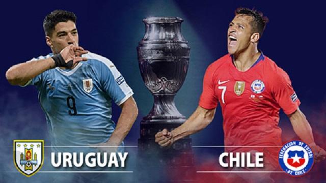Soi kèo bóng đá trận Uruguay vs Chile, 4:00 – 22/06/2021